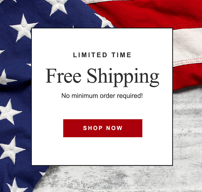 LIMITED TIME FREE SHIPPING