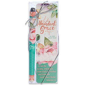 Abundant Grace Bookmark and Pen Set