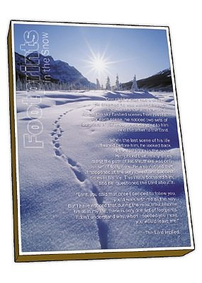 Footprints in the Snow Christmas Cards Pack of 15
