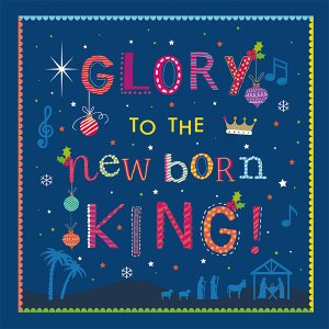 Glory to the New Born King Charity Christmas Cards Pack of 10