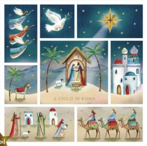 A Child is Born Charity Christmas Cards Pack of 10