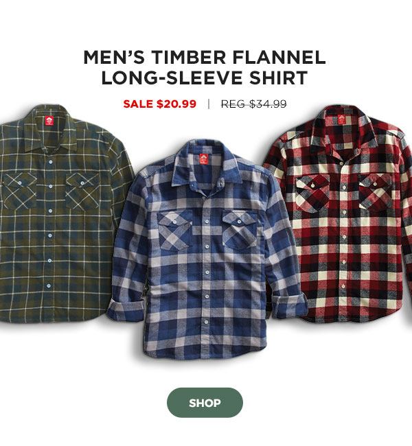 Men's Timber Flannel Long-Sleeve Shirt - Click to Shop