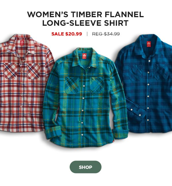 Women's Timber Flannel Long-Sleeve Shirt - Click to Shop
