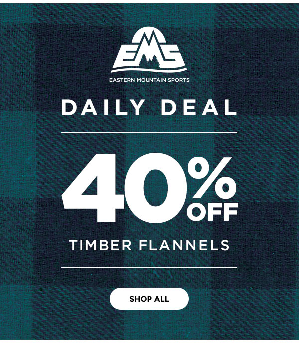 Daily Deal - 40% OFF Timber Flannels - Click to Shop All