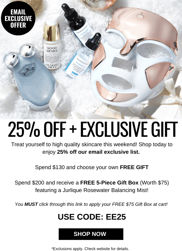 EMAIL EXCLUSIVE OFFER + GIFT
