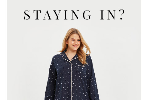 Navy Blue Star Print Buttoned Pyjama Set