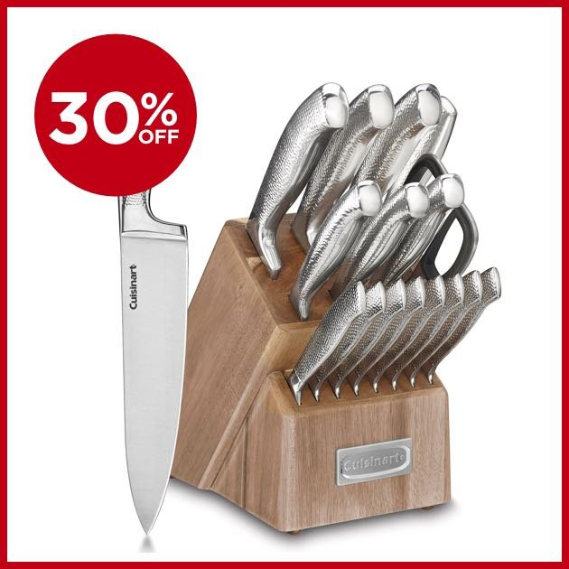 30% OFF - Cuisinart® Classic™ Stainless Steel 17_Piece Knife Block Set