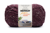 Bernat Softee Chunky Tweeds, Burgandy Tweed Image