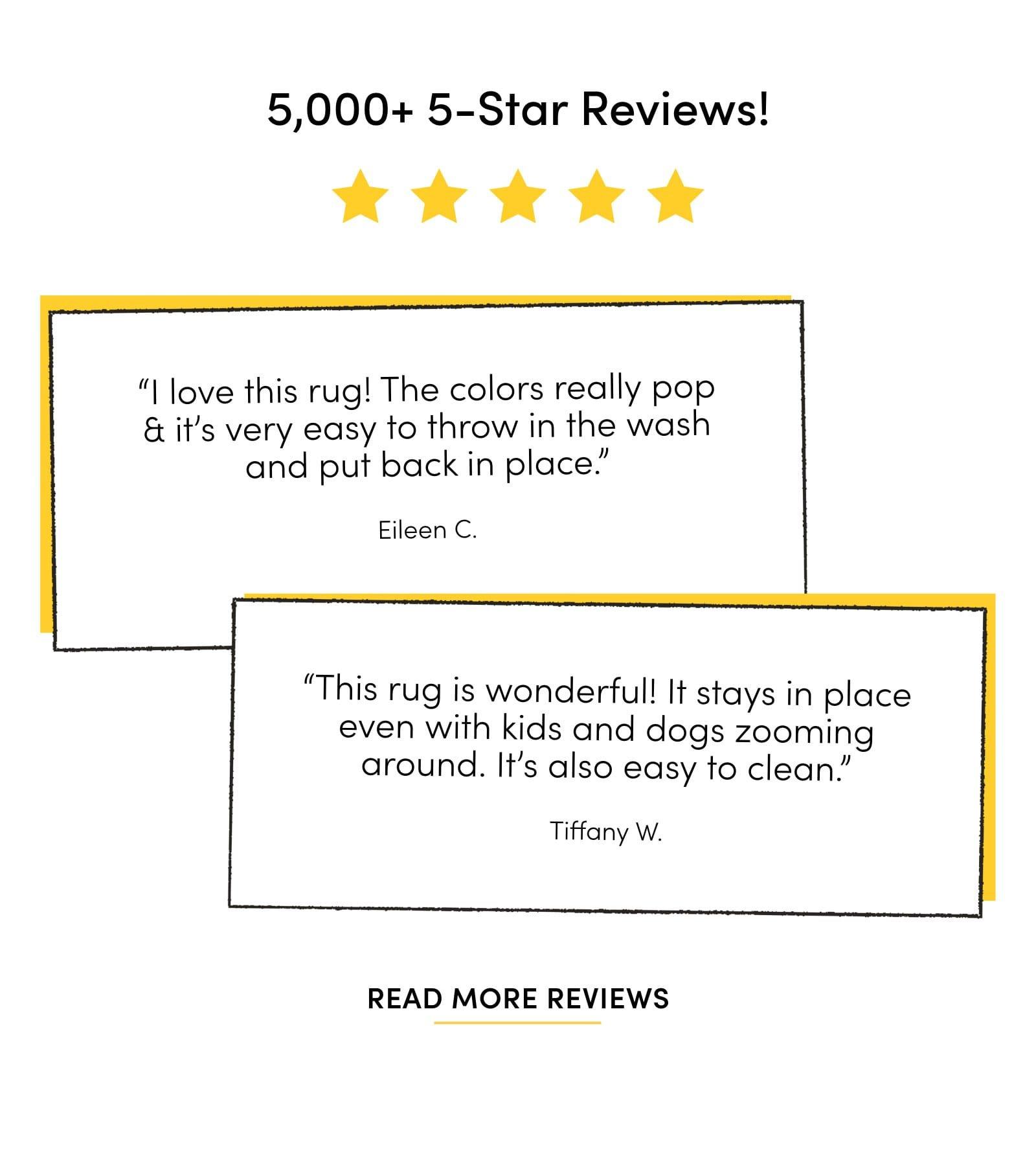 5,000+ 5-Star Reviews
