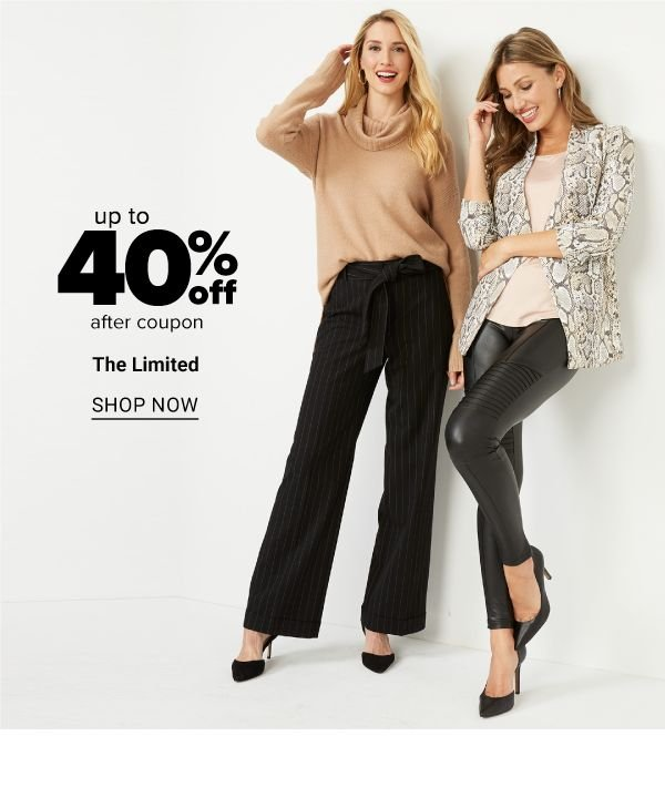 up to 40% off after coupon The Limited - Shop Now