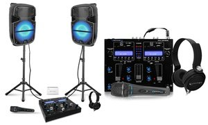 Technical Pro All-in-One Portable DJ Set (10-Piece)