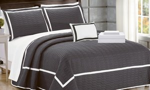 Brandyn Two-Tone Quilt with Sheet Set (6- or 8-Piece)