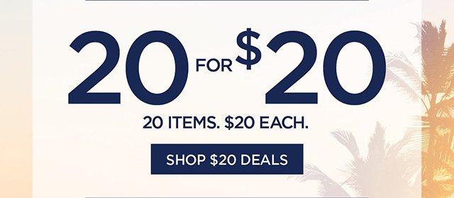 20 for $20 | Shop $20 Deals
