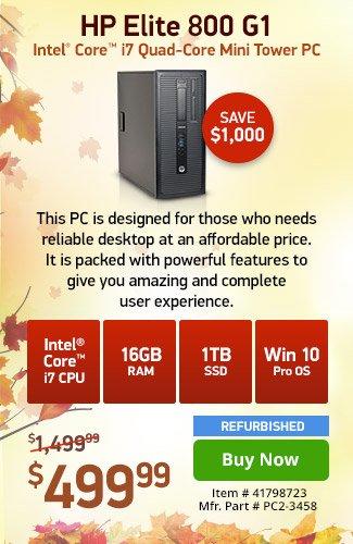 HP Elite 800 G1 i7 16GB 1TB SSD w/ 1yr Warranty|41798723|Shop Now
