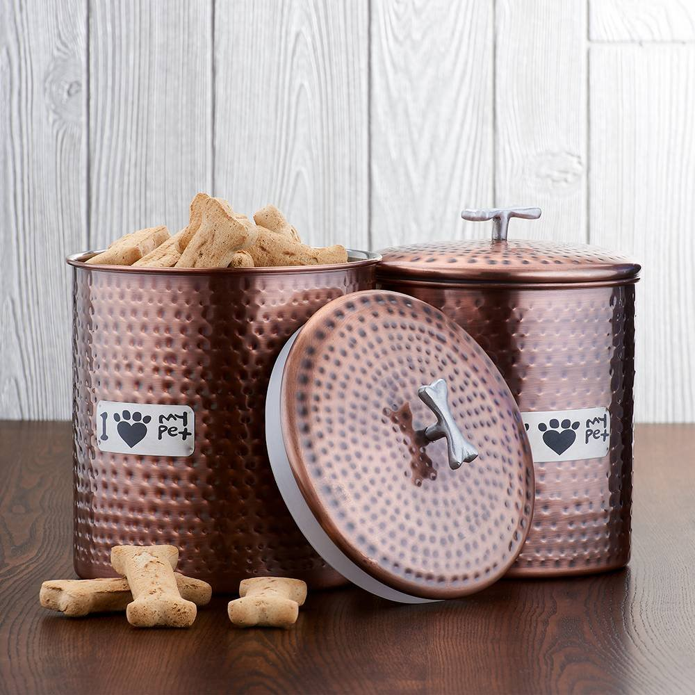 Jumbo Copper Pet Canister Set - $79.99 - BUY NOW
