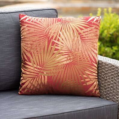 Corona Outdoor Square Tropical Water Resistant Pillow
