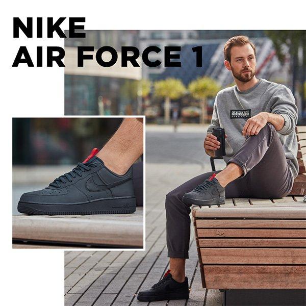 sidestep air force schwarzes nike zeichen