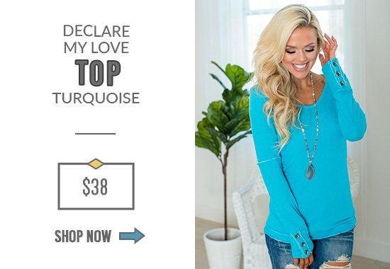 Declare My Love Top Turquoise
