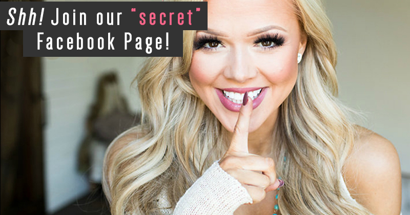join our secret Facebook page