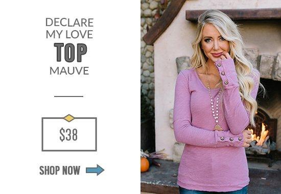Declare My Love Top Mauve
