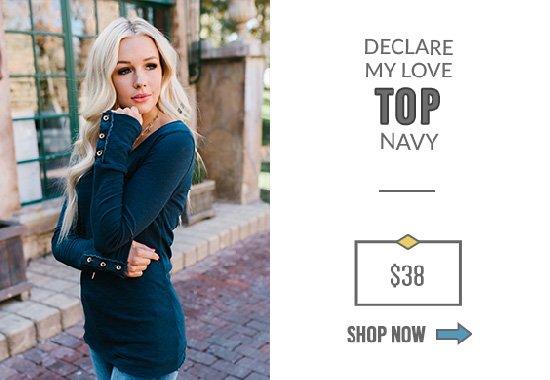 Declare My Love Top Navy