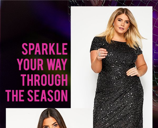 Black Tinsel & Sequin Shift Dress