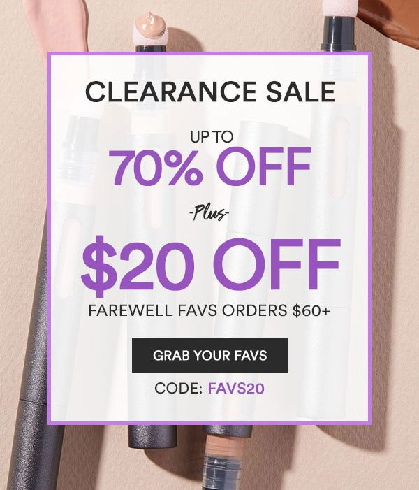 Clearance Sale   Grab Your Favs
