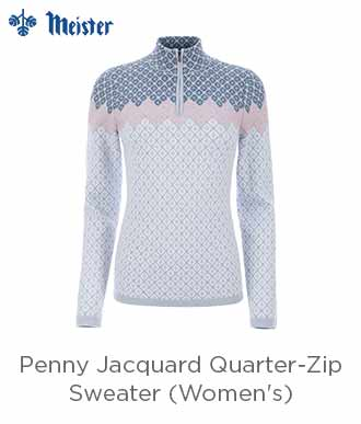 Meister Penny Jacquard 1/4-Zip Sweater