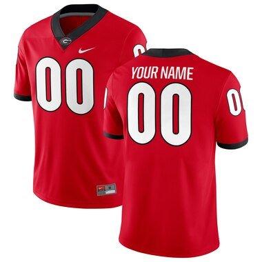 Georgia Bulldogs Nike Football Custom Game Jersey - Red