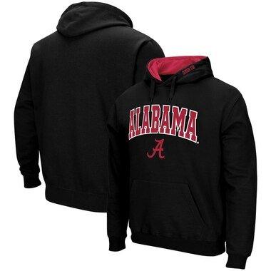 Alabama Crimson Tide Colosseum Arch & Logo Pullover Hoodie - Black