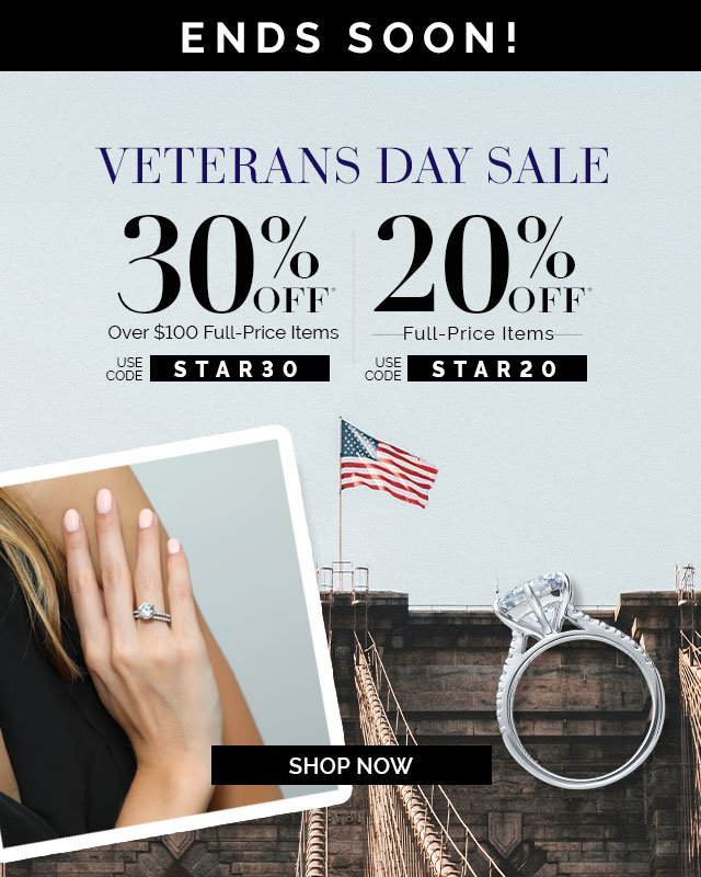 Veterans Day Sale Ends Soon