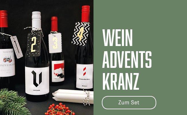 Weinflaschen Adventskranz
