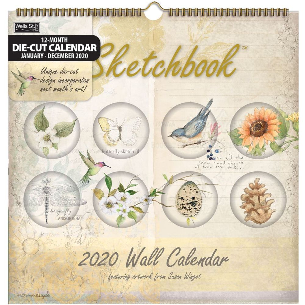 Sketchbook Diecut Wall Calendar