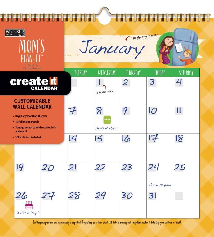 Mom's Create-It Perpetual Wall Calendar