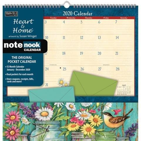 Heart & Home Note Nook Wall Calendar