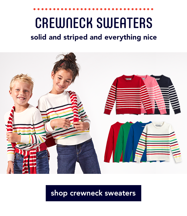 Crewneck Sweaters / solid and striped and everything nice
