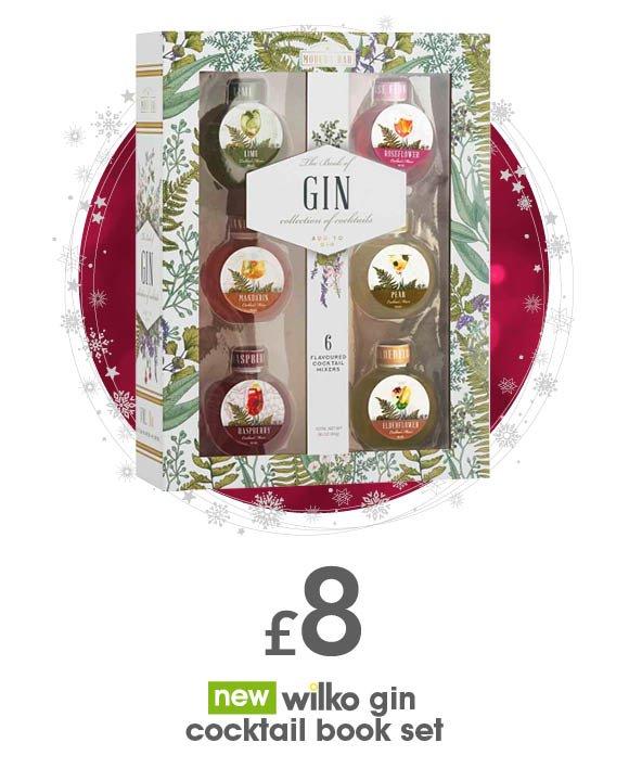 wilko gin cocktail book set