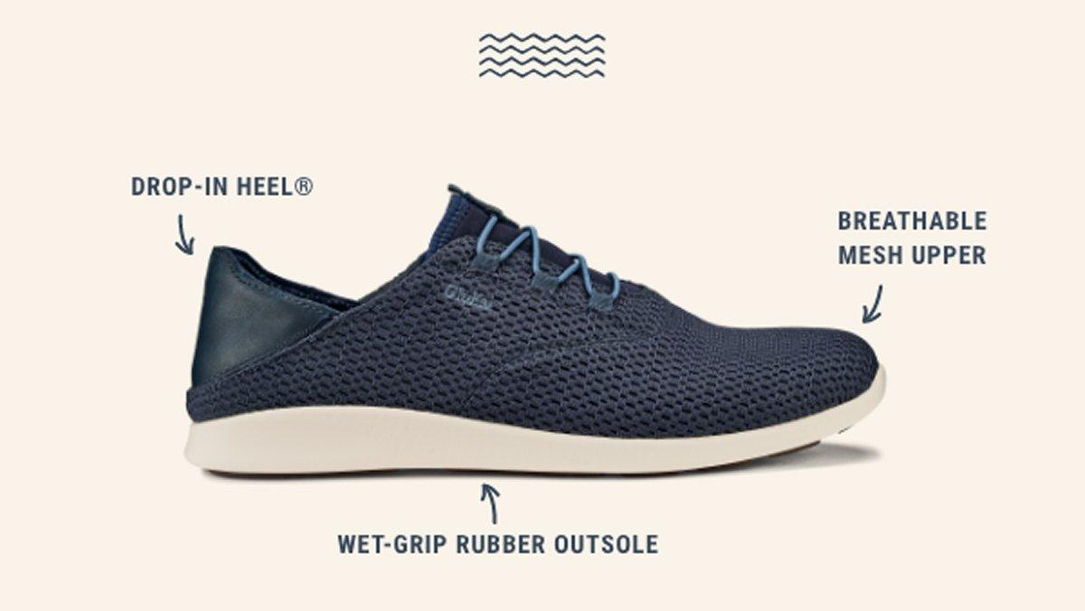 Men's Alapa Li. Drop-In Heel. Breathable Mesh Upper. Wet-Grip Rubber Outsole.