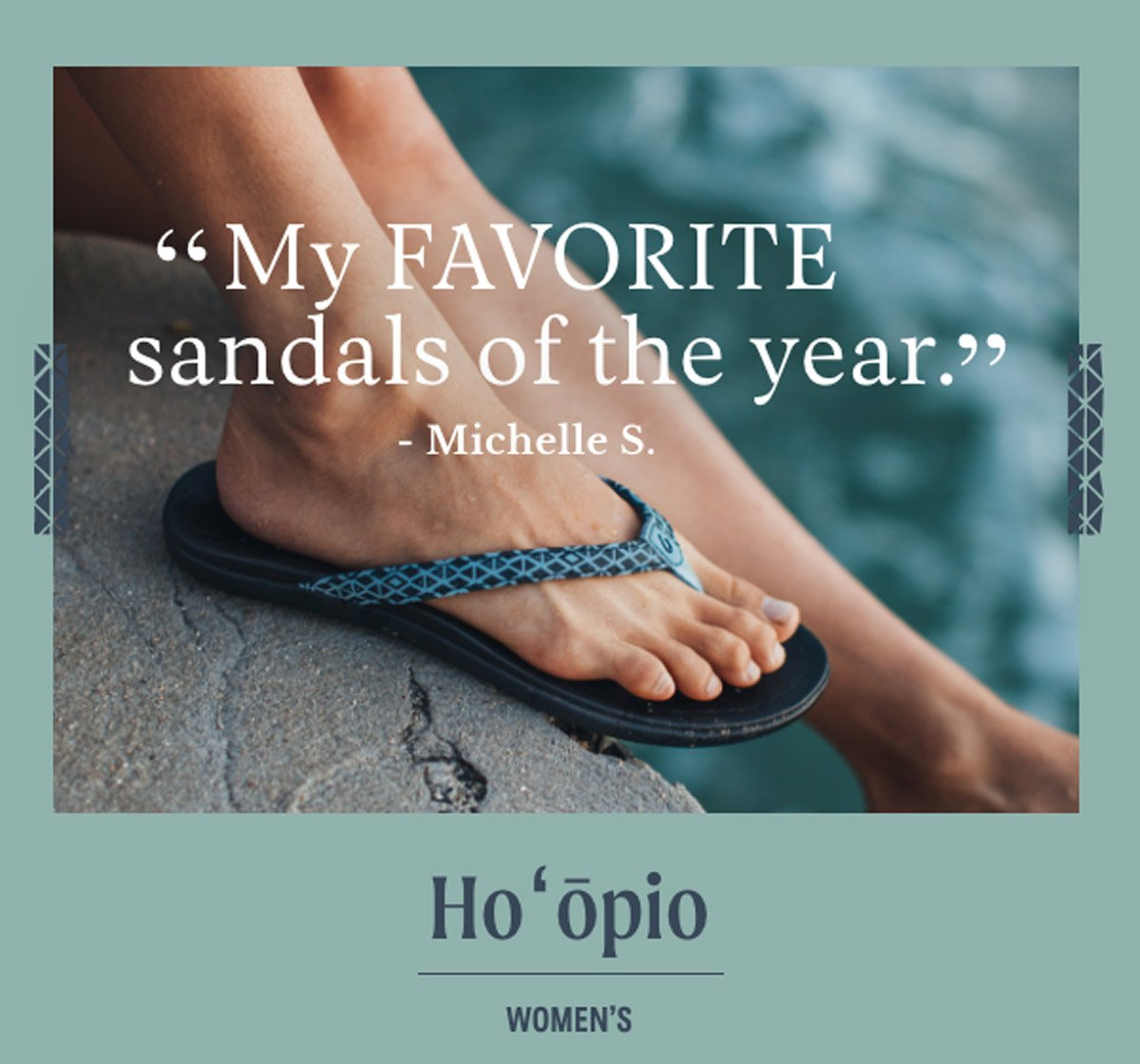 ''My FAVORITE sandals of the year.'' - Michelle S. WOmen's Ho'opio sandal.