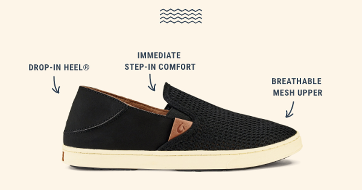 Women's Pehuea. Drop-In Heel. Immediate Step-In Comfort. Breathable Mesh Upper.