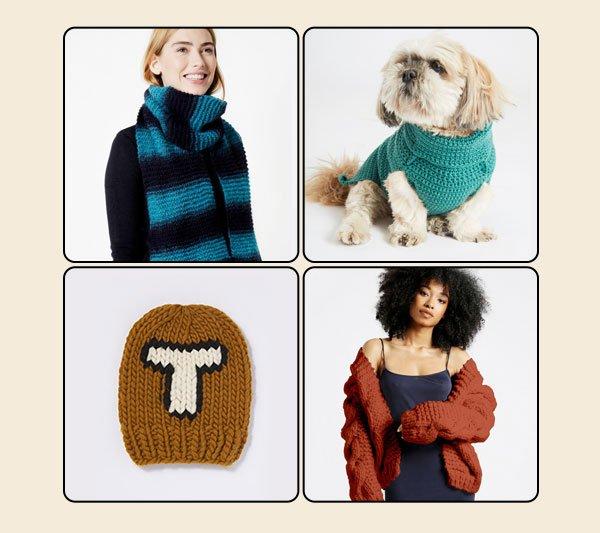 Selected knitting kits 20% off