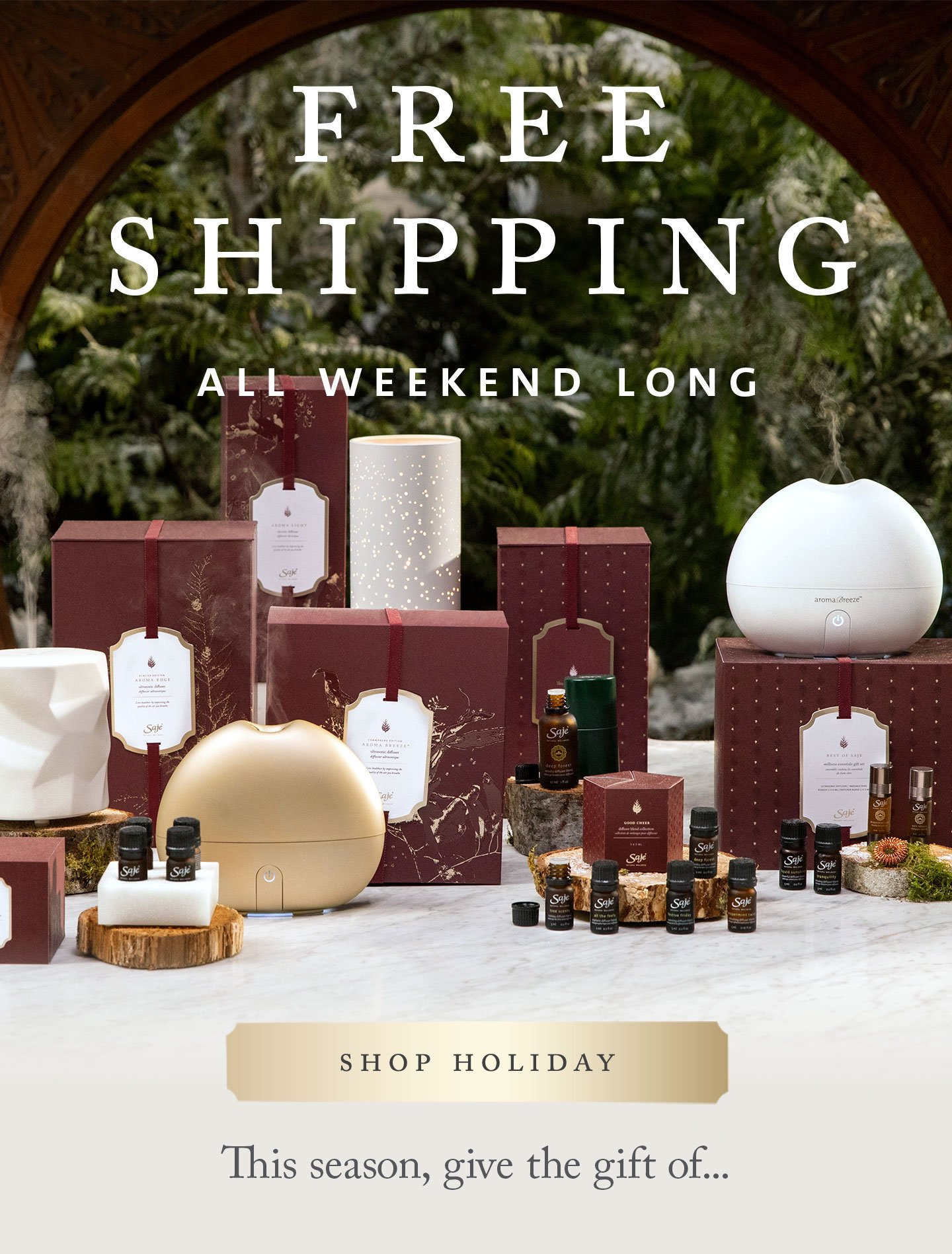 Free shipping all weekend long - Shop now