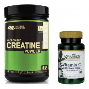 ON Creatine + Swanson Vitamin C