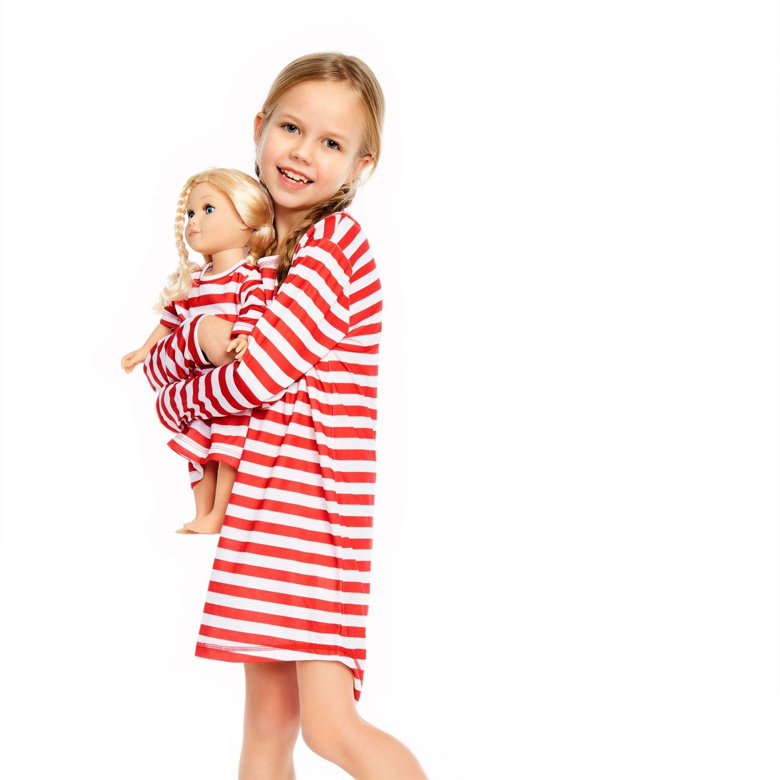Christmas Girl & Doll Matching Nightgown