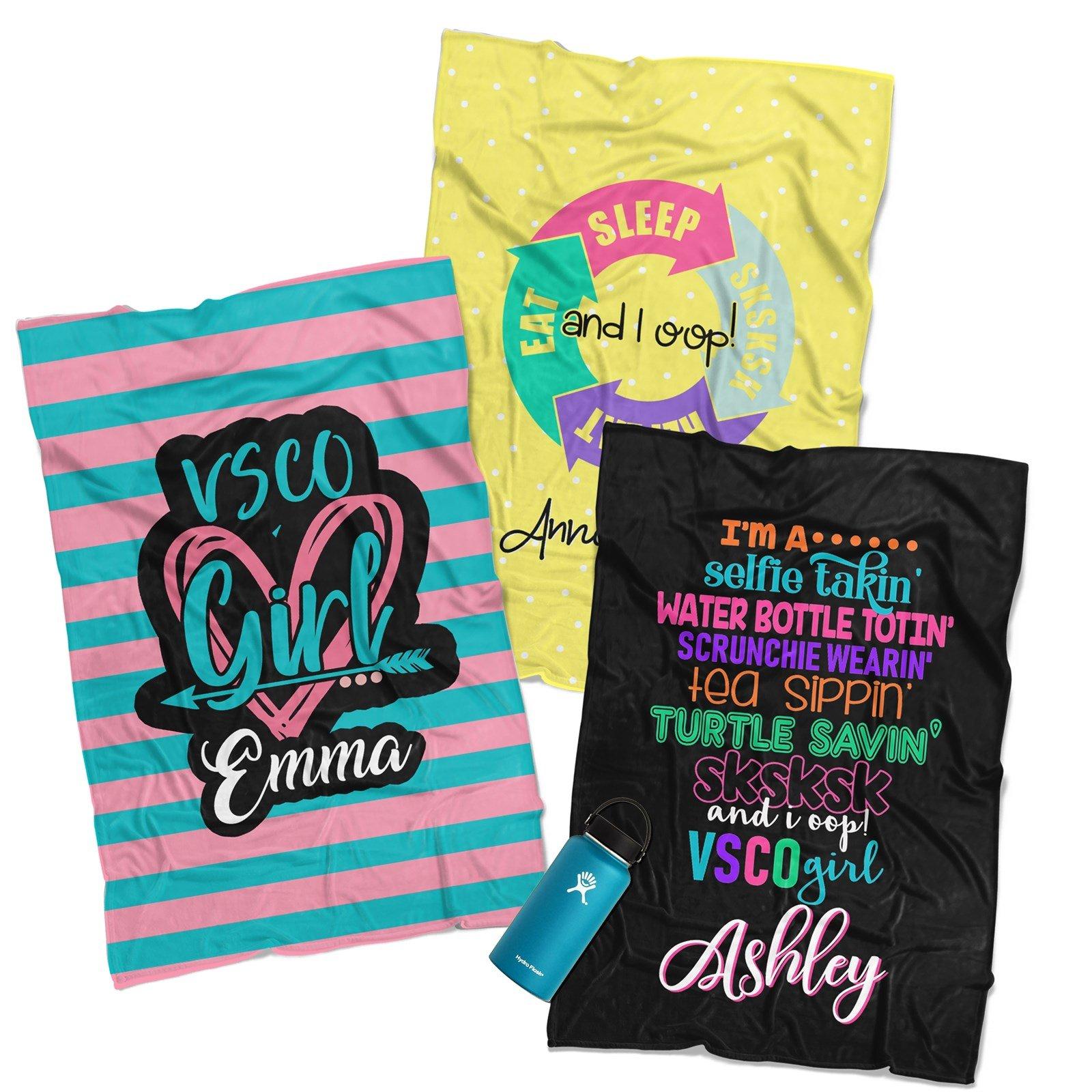 Personalized VSCO Girl Blankets