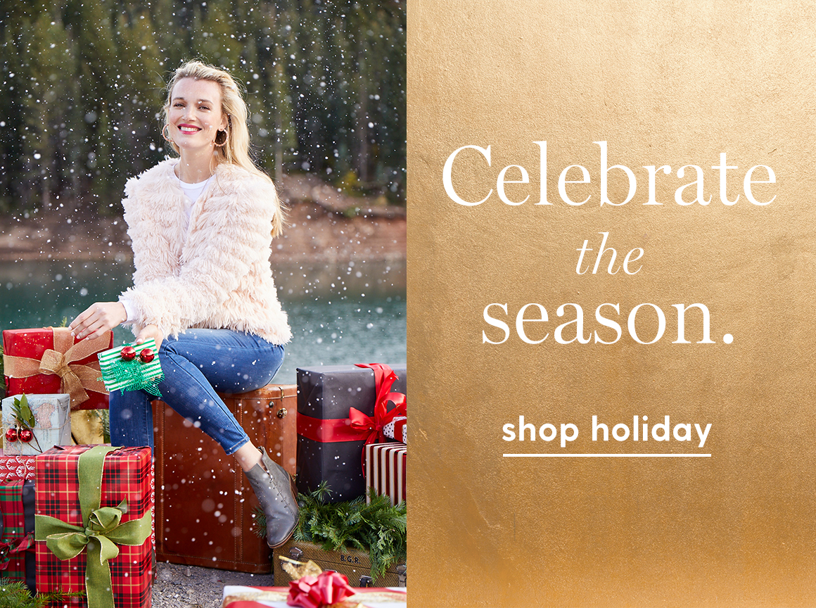 Celebrate the season. Shop holiday.