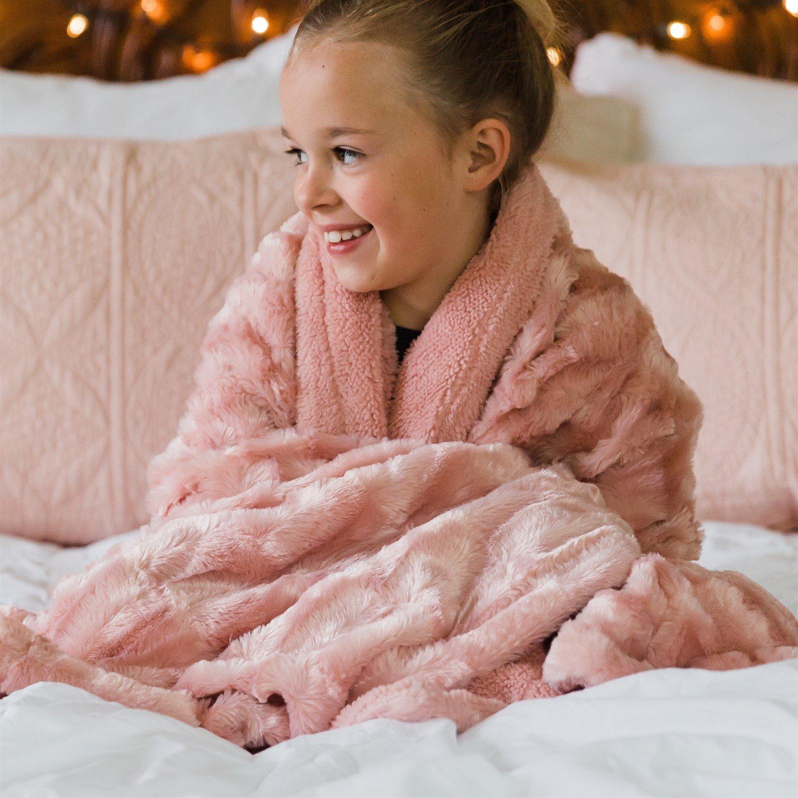 Plush Minky Blanket   Child Size