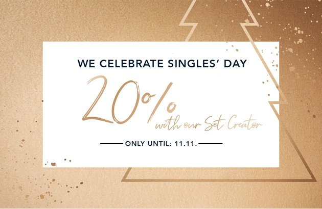 Singles' Day Deal: save 20% in a set!