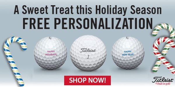 FREE Personalization On Titleist Golf Balls - A Sweet Treat This Holiday Season!
