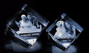Up to 57% Off 3D Photo Crystal from 3D Crystal USA